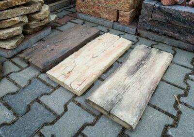 Chodnik ogrodowy imitacja drewna